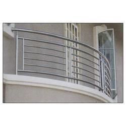 Stainless steel balcony railing manufacturers suppliers for Design of balcony railings in india