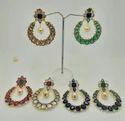 Colour Stone Designer Chand Bali