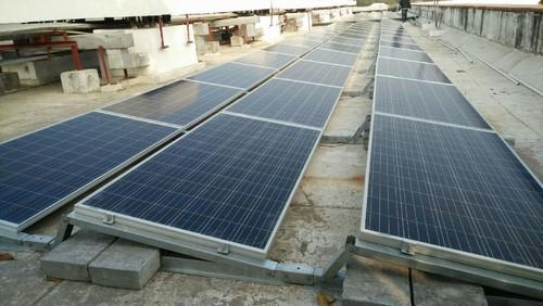 solar structure panel ballast type flat mounting polycrystalline silicon shape panels roof energy