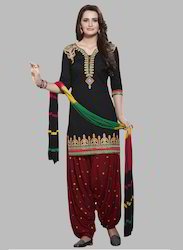 KVS Fab Cotton Unstitched Patiala Suit