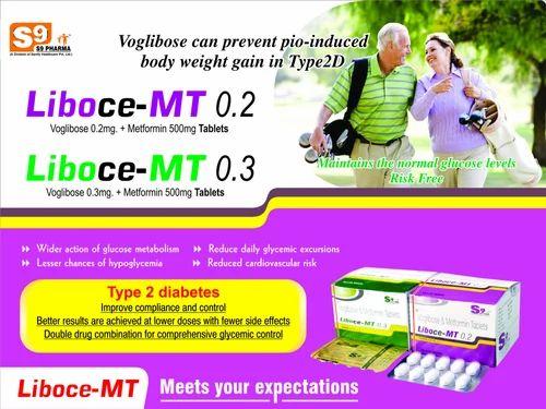 Voglibose 0.2Mg, Metformin 500Mg  Tablet
