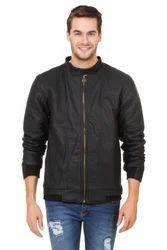 Mens Leather Full Sleeve Designer Jacket, Size: M, L & XL