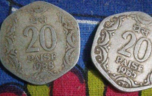 Hibor, Shillong - 20 Paise 1988 N 1985 and Coin 5 Rupee(1935-2010)