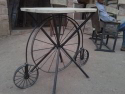 Spoke Wheel Console Table