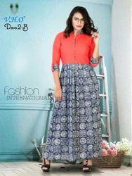 Designer Cotton Long Kurti