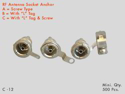 RF Antenna Socket, Cable Mount, Contact Material: Brass