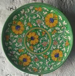 Blue Pottery Wall Plate