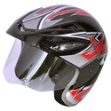 Fiber Body Half Face Helmet