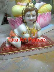 Marble Laadu Gopal Bal Gopal Krishna Statue