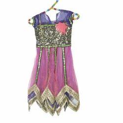 c3c955790247 Multicolor Cotton Kids Wear Gown