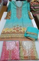 Cotton Digital Print Suit