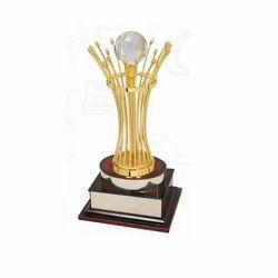 Aluminium Designer Crystal Trophy