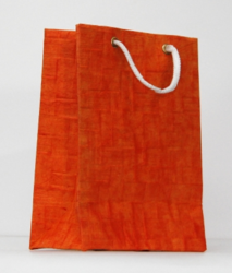 Bright Orange Handmade Bag