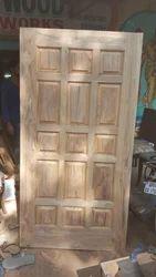 MBK Brown Indian Teak Wood Door, For Home, 6.5 X 3 Ft