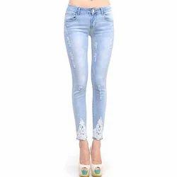 Lightish Blue Comfort Ladies Designer Jeans