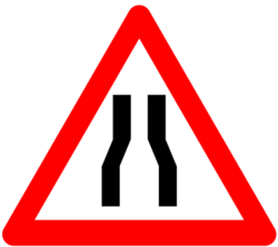 Asian Narrow Road Signage, Shape: Triangle ,600 X 600 And 900 X 900 Mm