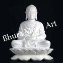 Buddha White Marble Statue