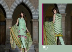 Sahil Party Wear Embroidered Lawn Dress Matrial
