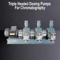 Triple Headed Dosing Pumps For Mill Sanitation