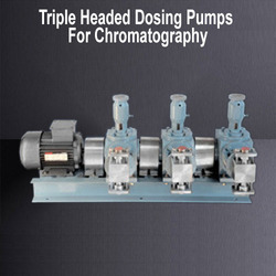 Triple Headed Dosing Pumps For Mill Sanitation