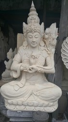 White Balinstone Carving
