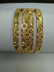 Gold Plated Machine Bangles