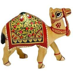 Wooden Camel Walking Wp034 Statue