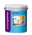 Soft Sheen Asian Paints Apex Weatherproof Emulsion, For Exterior, Packaging Type: Can