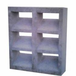 Rough Concrete Cement Ventilation Block, For Partition Walls, Size: 16*18 Inches, 1 *1 Feet