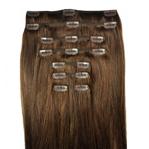 Brown Women Clip On Hair Extensions af4f538c4