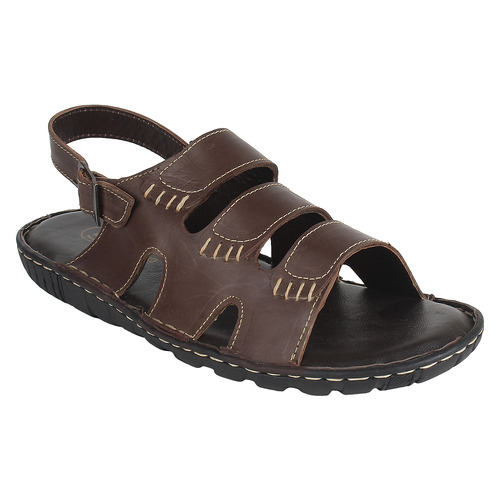 5376ac493 Brown Color Burst Leather Sandals at Rs 450  pair