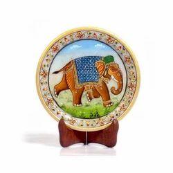 Rajasthani Elephant  Marble Painting 393