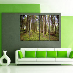 Multiple Frames Forest Trees Like Painting