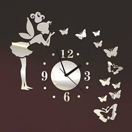 3d Diy Wall Art Girl Band Butter Acrylic Wall Clock at Rs 999