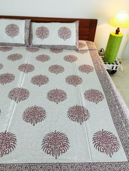 Hand Block Printed Jaipuri Cotton Bed Sheets