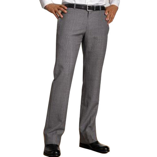 Cotton/Linen Mens Slim Fit Formal Trouser