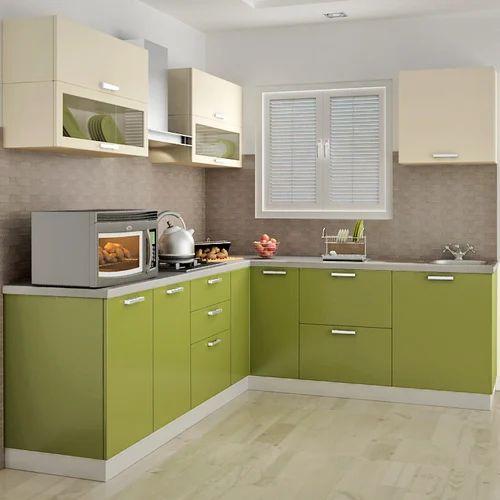 L Shaped Modular Kitchen Designs India: L Shape Modular Kitchen At Rs 50000 /unit