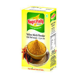 Saptrishi 500 g Yellow Mirch Powder, Packaging: Packet