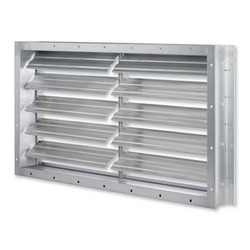 Aluminum Aluminium Dampers, For Industrial, Shape: Rectangular