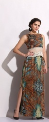 Georgette Party Wear LD-1618 Long Skirt Dress, Age Group: 20-55 Years