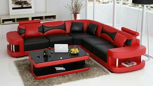 Wood Red And Black Sofa Set, Rs 35800 /set, Furniture Zone | ID ...