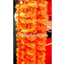 Orange-Marigold Artificial Flowers Garland