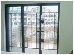 Elegant 3 Panel Terrace Safety Door Black