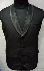 Black Party Wear Waistcoat