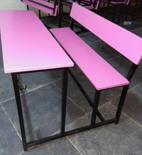 Shivam Seating System Wooden Pink Wood, Pink Wooden School Desk