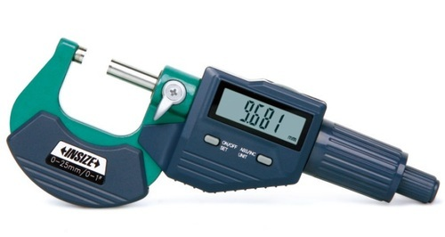 150 mm-300 mm//6-12 INSIZE 3506-300A Digital Outside Micrometer With Interchangeable Anvils