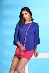 ST 1627 Blue Trendy Top
