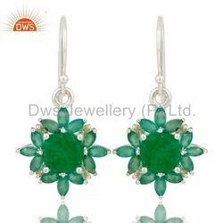 Peridot & Green Onyx Gemstone Earring