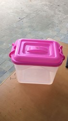 Plastic containers with lock