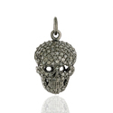 Pave Diamond Skull Pendant